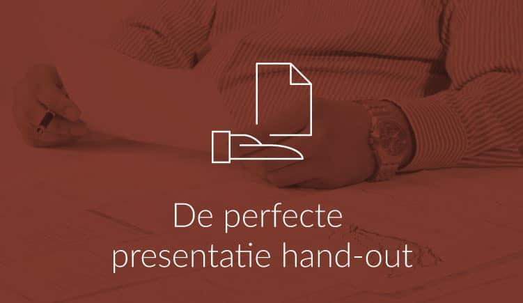 Blogartikel - perfecte presentatie handout