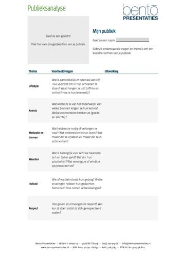 Checklist publieksanalyse
