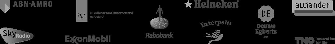 logo's van klanten van Bento Presentaties