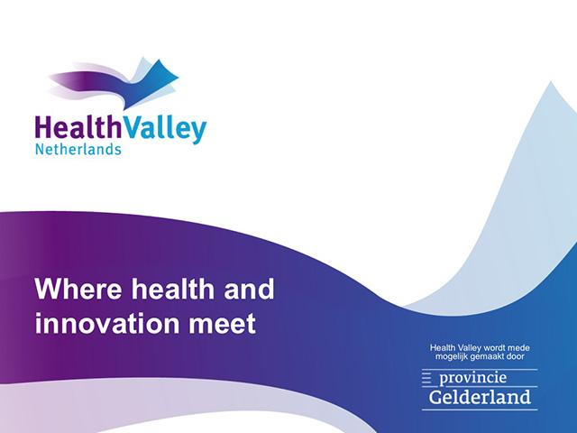 Health Valley presentatie voorbeeld