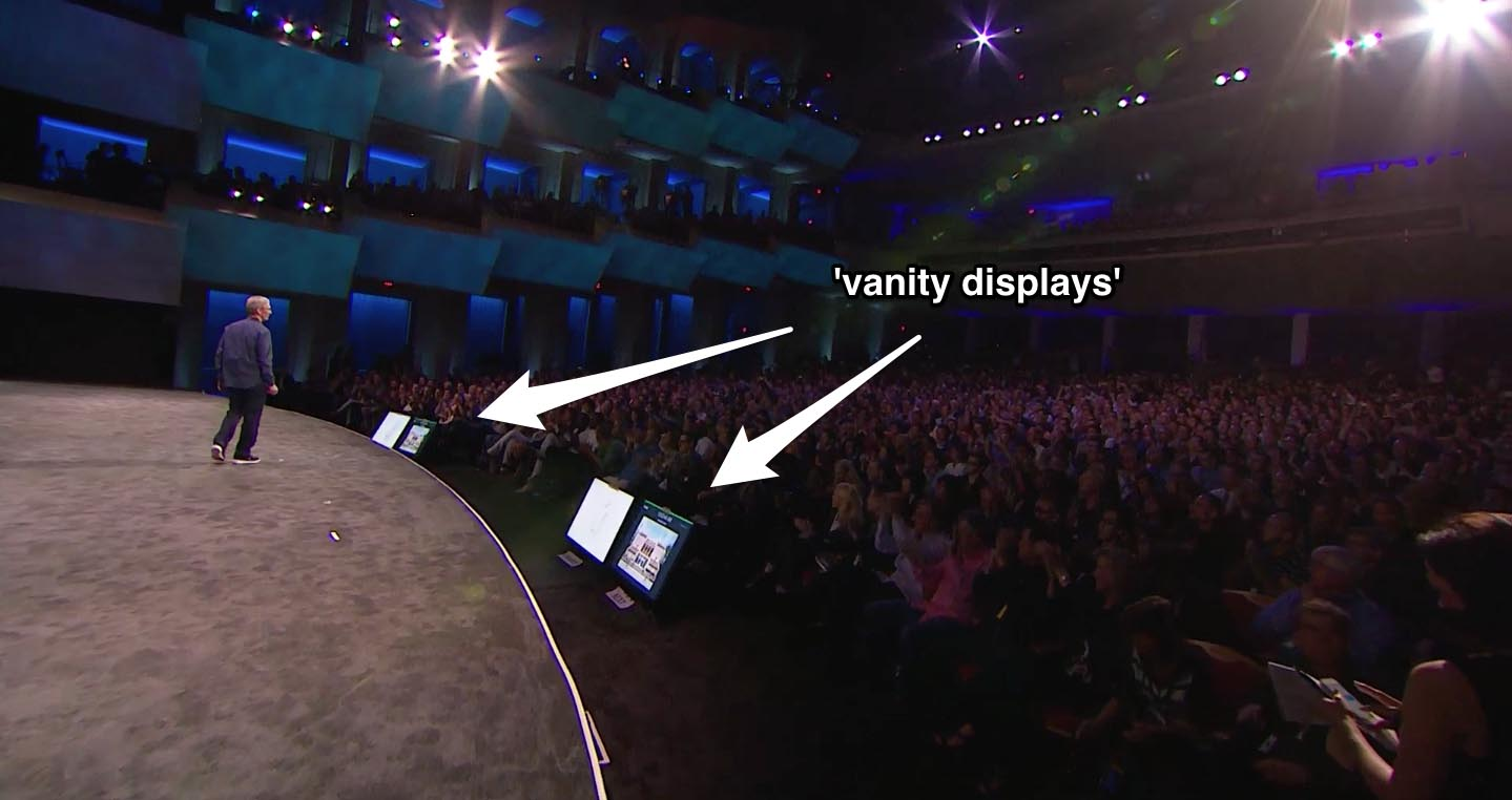 Vanity displays op Apple Special Event 9 september 2014