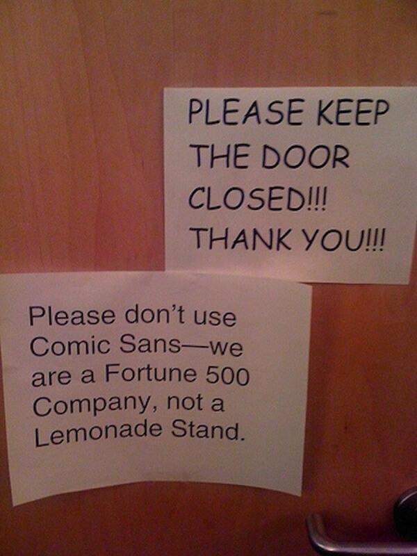 Comic Sans leidt tot irritatie