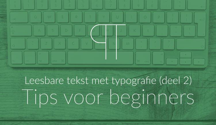 Uitgelichte illustratie bij blogartikel met typografie-tips voor beginners