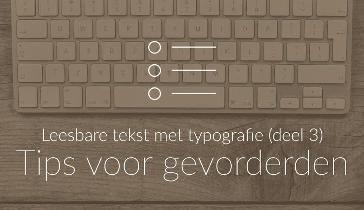 Uitgelichte illustratie bij blogartikel met typografie-tips voor gevorderden