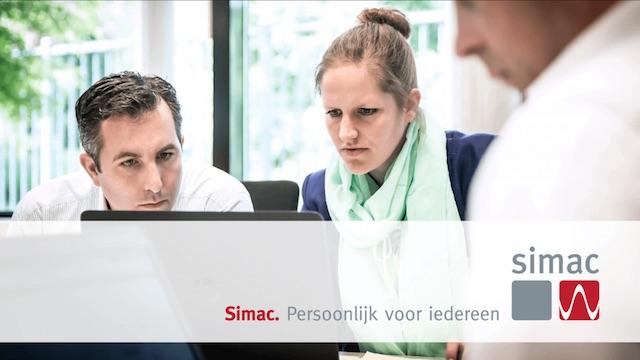 Voorbeeld-dia uit bedrijfspresentatie Simac