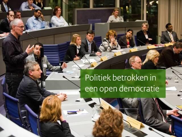 Voorbeeld-dia uit PowerPoint-presentatie voor politieke ambtsdragers