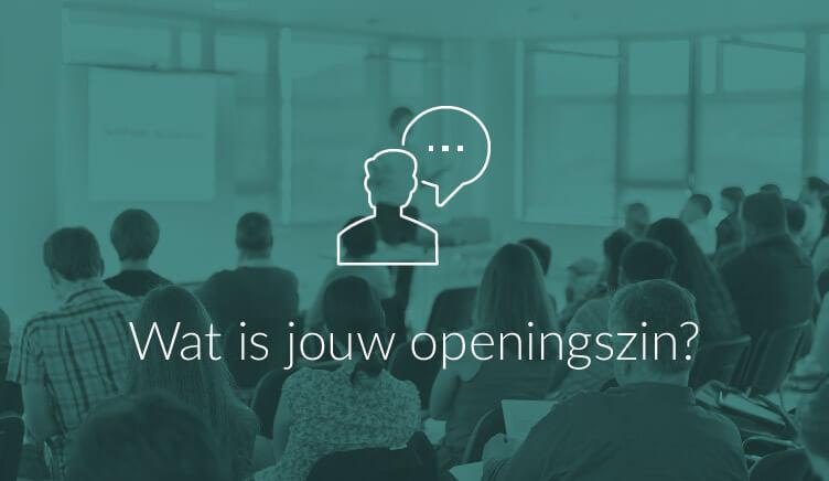 Illustratie bij boogartikel over de openingszin van je presentatie