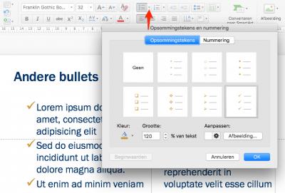 Zo maak je in PowerPoint andere bulletpoints