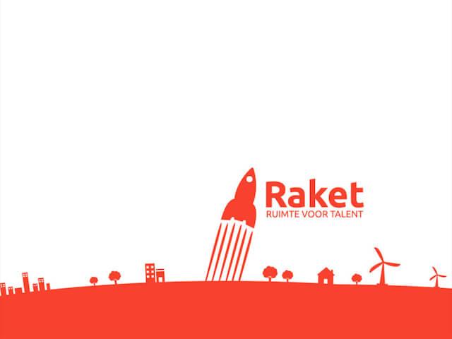 Voorbeeld-dia uit PowerPoint-presentatie voor Raket