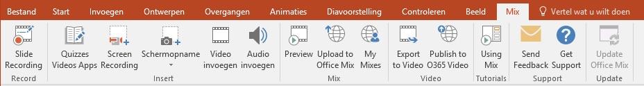 Lint van Mix in PowerPoint