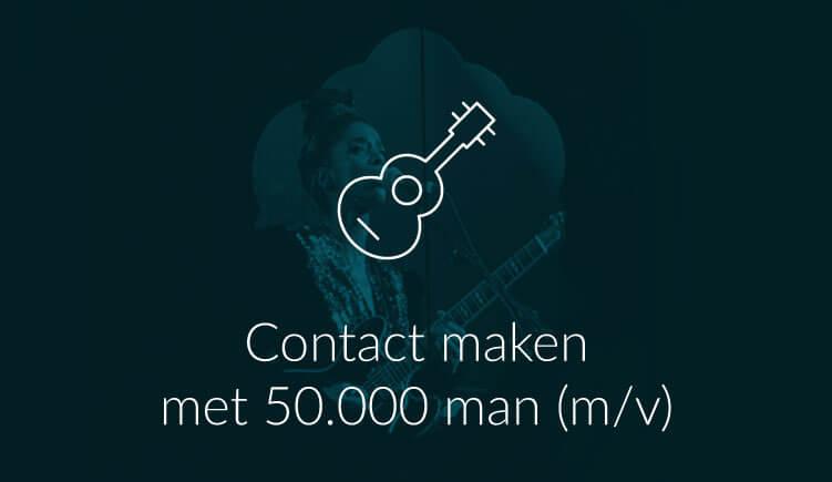 Contact maken met een grote zaal