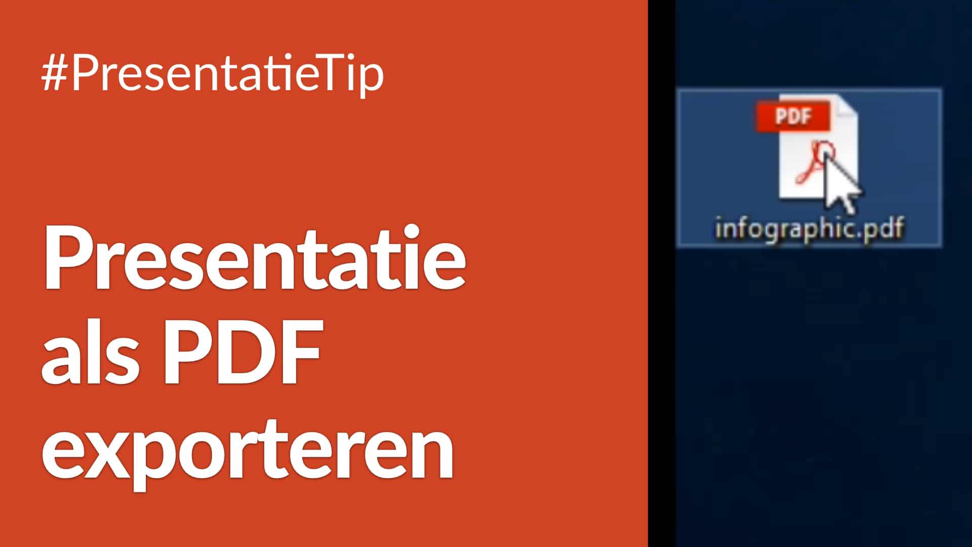 Presentatie als PDF exporteren