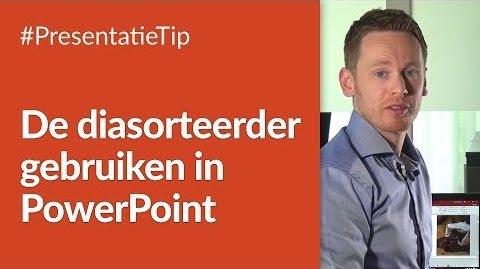 Diasorteerder gebruiken in PowerPoint