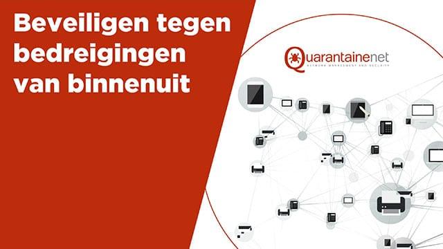 Voorbeeld-dia's uit de PowerPoint-presentatie voor Quarantainenet