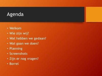 Slides die je uit de PowerPoint zou moeten halen