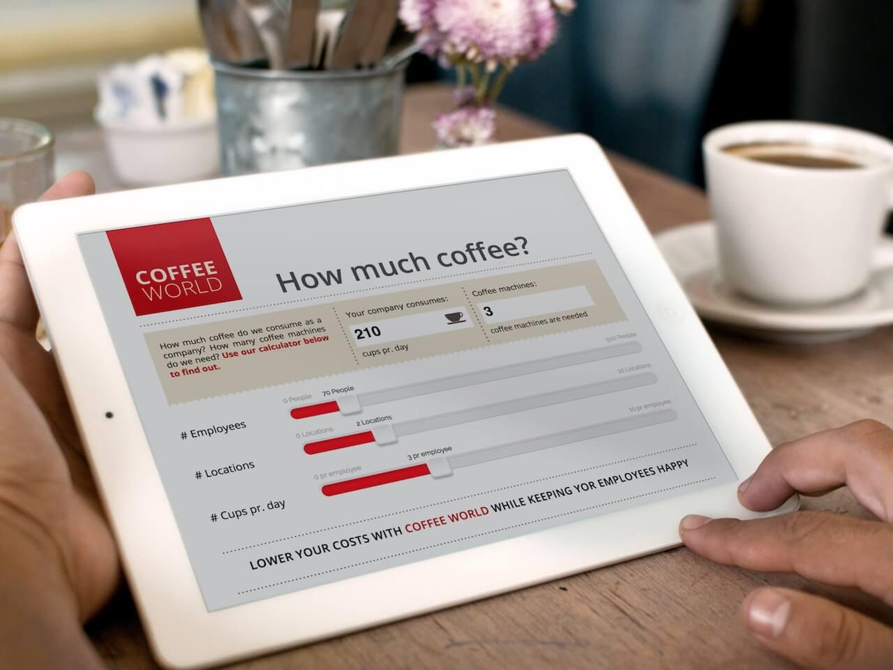 Salespresentatie op een iPad