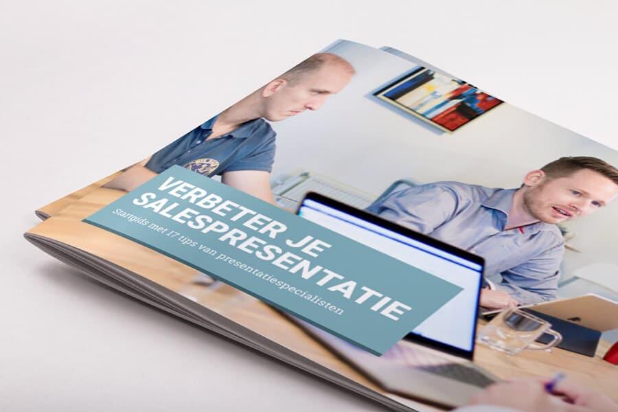 cover van de startgids voor salespresentaties